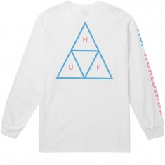 Huf Triple Triangle Long Sleeve T-Shirt - White