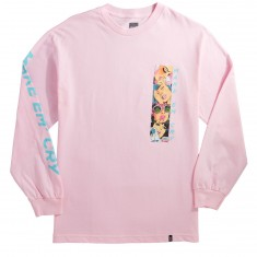 Huf Make Em Cry Long Sleeve T-Shirt - Pink