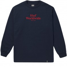 Huf Worldwide Long Sleeve T-Shirt - Navy