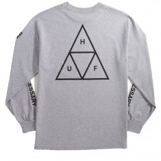 Huf Triple Triangle Long Sleeve T-Shirt - Grey Heather