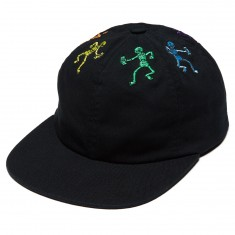 Huf Owsley 6 Panel Snapback Hat - Black