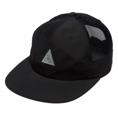 Huf Triple Triangle Side Mesh 6 Pa Hat - Black