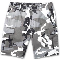 Huf Standard Issue Cargo Shorts - White/Camo
