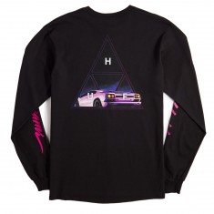 Huf Night Call Triple Triangle Longsleeve T-Shirt - Black