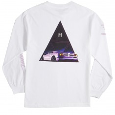 Huf Night Call Triple Triangle Longsleeve T-Shirt - White