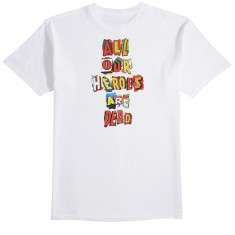 Huf Our Heroes T-Shirt - White
