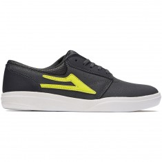 Lakai Griffin XLK Shoes - Charcoal/Lime Nubuck