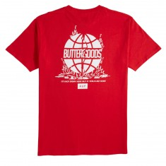 HUF X Butter Goods Feels Like Home T-Shirt - Red