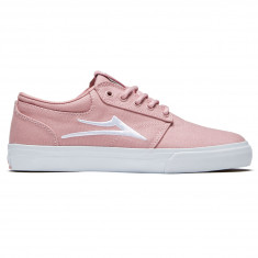 Lakai Unisex Griffin Shoes - Pink Canvas