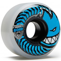 Spitfire 80HD Chargers Conicals Clear Skateboard Wheels - Blue - 56mm