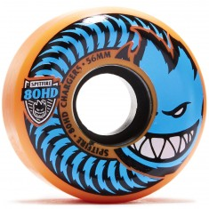 Spitfire 80HD Chargers Conicals Skateboard Wheels - Orange/Blue - 56mm