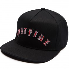 Spitfire Old E Arc Snapback Hat - Black
