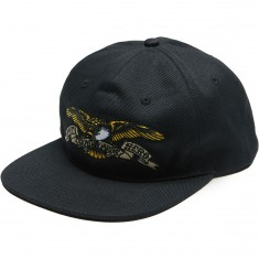 Anti-Hero Eagle Emb 6 Panel Snapback Hat - Black