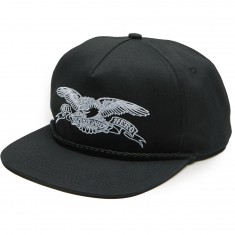 Anti-Hero Basic Eagle Snapback Hat - Black/White