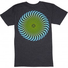 Spitfire Classic Swirl Fade T-Shirt - Charcoal Heather