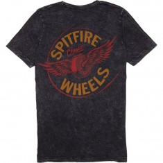 Spitfire Flying Classic T-Shirt - Black Mineral Wash