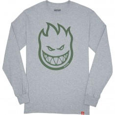 Spitfire Bighead Longsleeve T-Shirt - Athletic Heather