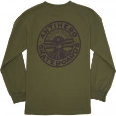 Anti-Hero Stay Ready Longsleeve T-Shirt - Military Green