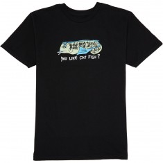 Krooked Cat Fish T-Shirt - Black