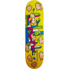 Krooked Skycastle Skateboard Deck - Yellow - 8.38""