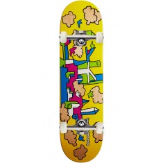 Krooked Skycastle Skateboard Complete - Yellow - 8.38""