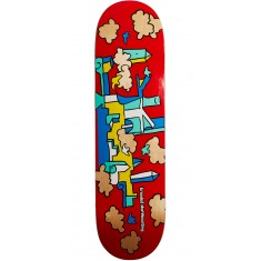 Krooked Skycastle Skateboard Deck - Red - 8.50""