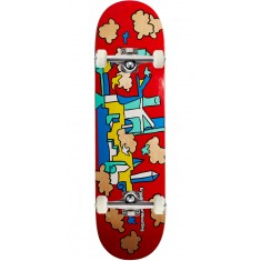 Krooked Skycastle Skateboard Complete - Red - 8.50""