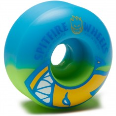 Spitfire Bighead Split Swirls Skateboard Wheels - Blue/Green - 51mm