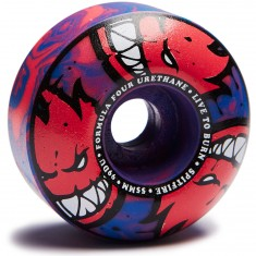 Spitfire F4 99 Afterburners Skateboard Wheels - Blue/Pink - 55mm