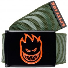 Spitfire Bighead LTB Classic Web Belt - Dark Army/Black/Orange