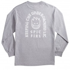 Spitfire Steady Rockin Bighead Longsleeve T-Shirt - Athletic Heather/White