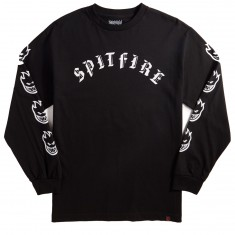 Spitfire Old E Longsleeve T-Shirt - Black/White