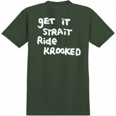 Krooked Straight Eyes T-Shirt - Military Green