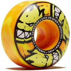 Spitfire F4 99d Afterburner Skateboard Wheels - Orange/Yellow