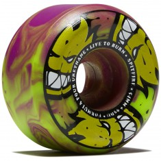 Spitfire F4 99d Afterburner Skateboard Wheels - Green/Purple