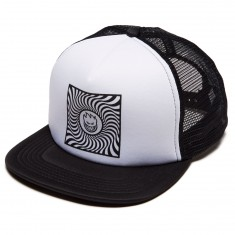 Spitfire Square Swirl Trucker Hat - Black/White