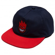 Spitfire Bighead Fill Snapback Hat - Navy/Red