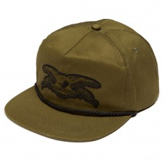 Anti Hero Stock Eagle Patch Snapback Hat - Olive Green