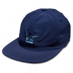 Krooked Kat Emb Snapback Hat - Navy/Light Blue
