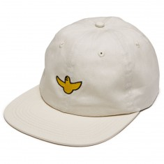 Krooked OG Bird Emb Strapback Hat - Cream