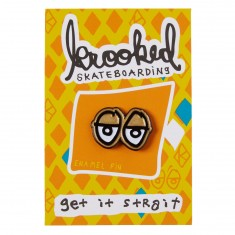 Krooked Eyes Pin - Gold/Black