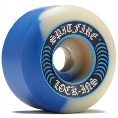 Spitfire F4 99 Lock-ins 50/50 Swirl Skateboard Wheels - Cobalt Blue/Natural - 52mm