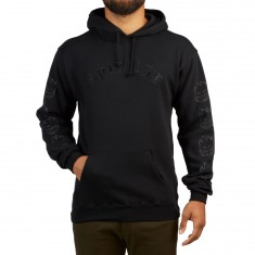 Spitfire Old E Embroidered Hoodie - Black/Black