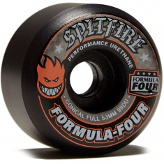 Spitfire F4 99 Conical Full Skateboard Wheels - Black - 53mm