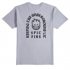 Spitfire Steady Rockin Bighead T-Shirt - Athletic Heather/Black