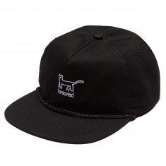 Krooked Kat Emb Snapback Hat - Black/White