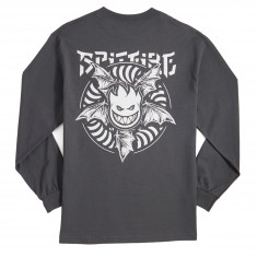 Spitfire Nocturnus Long Sleeve T-Shirt - Charcoal/White
