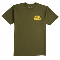 Anti-Hero Lil Blackhero T-Shirt - Military Green/Yellow