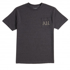 Anti-Hero Drophero Pocket T-Shirt - Charcoal Heather/Cream