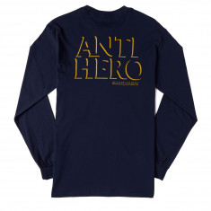 Anti-Hero Drophero Long Sleeve T-Shirt - Navy/Yellow